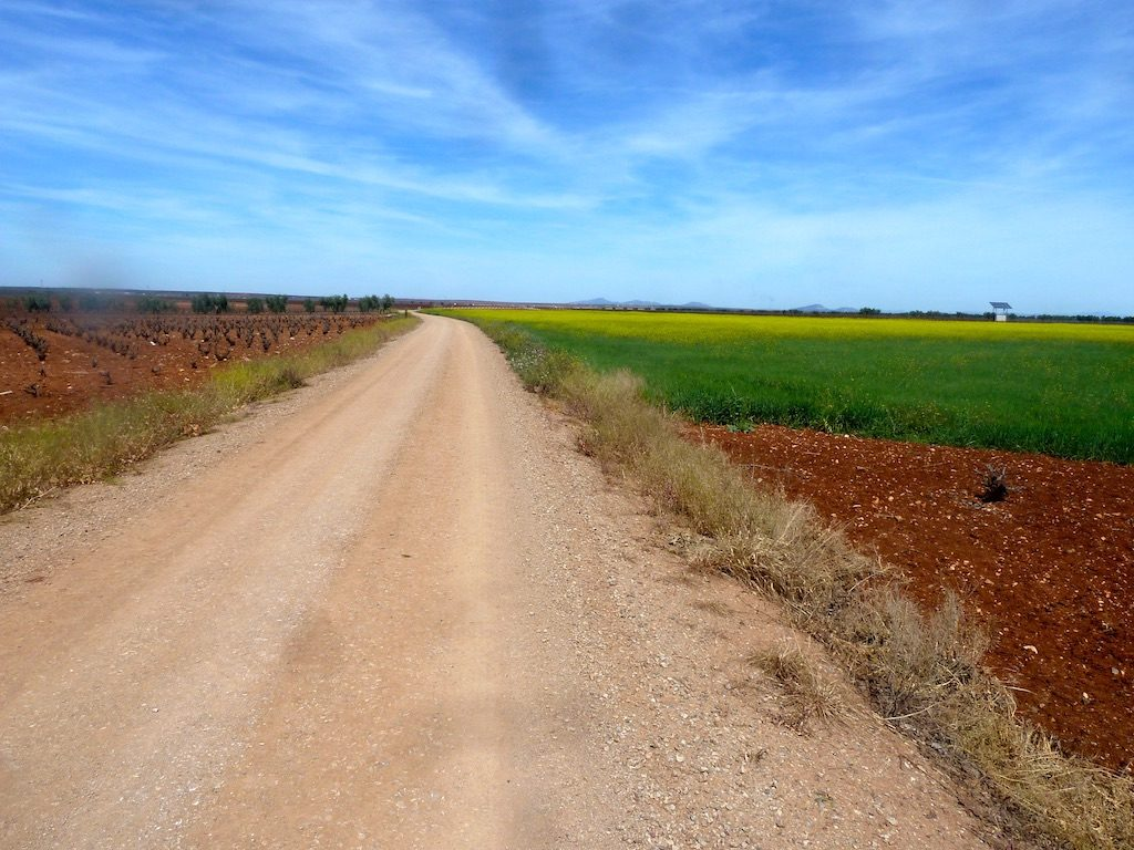 Vue du chemin sur la Via de la Plata