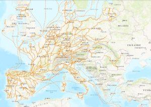 chemin de compostelle carte ign Les Principaux Chemins vers Compostelle – Les Amis des Chemins de